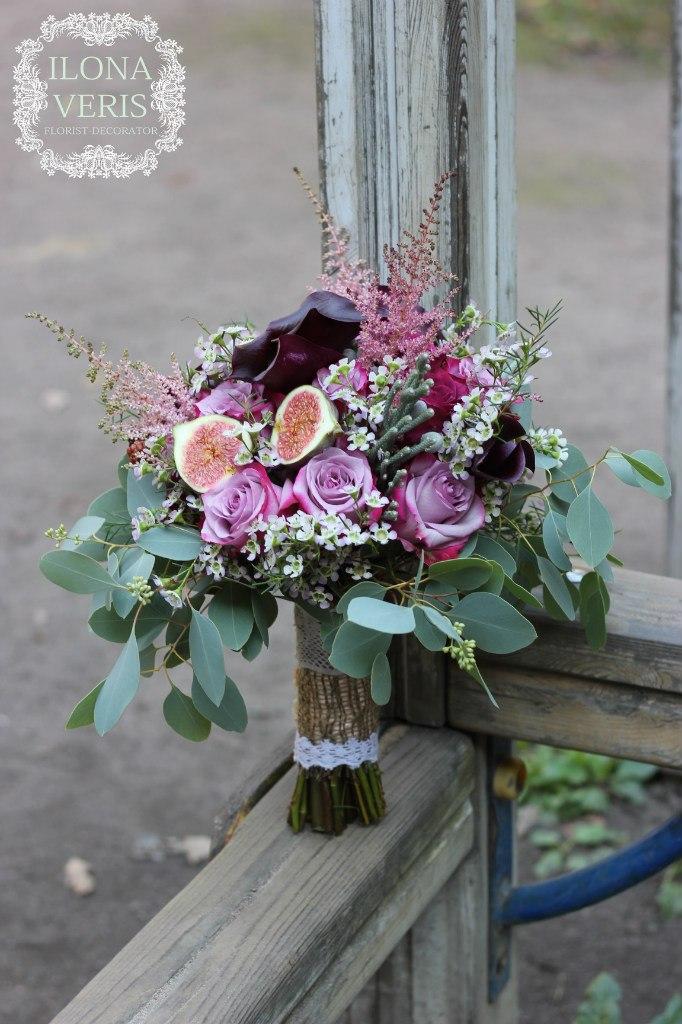 пушистый букет невесты