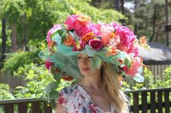 Цветочная шляпа Илона Верис