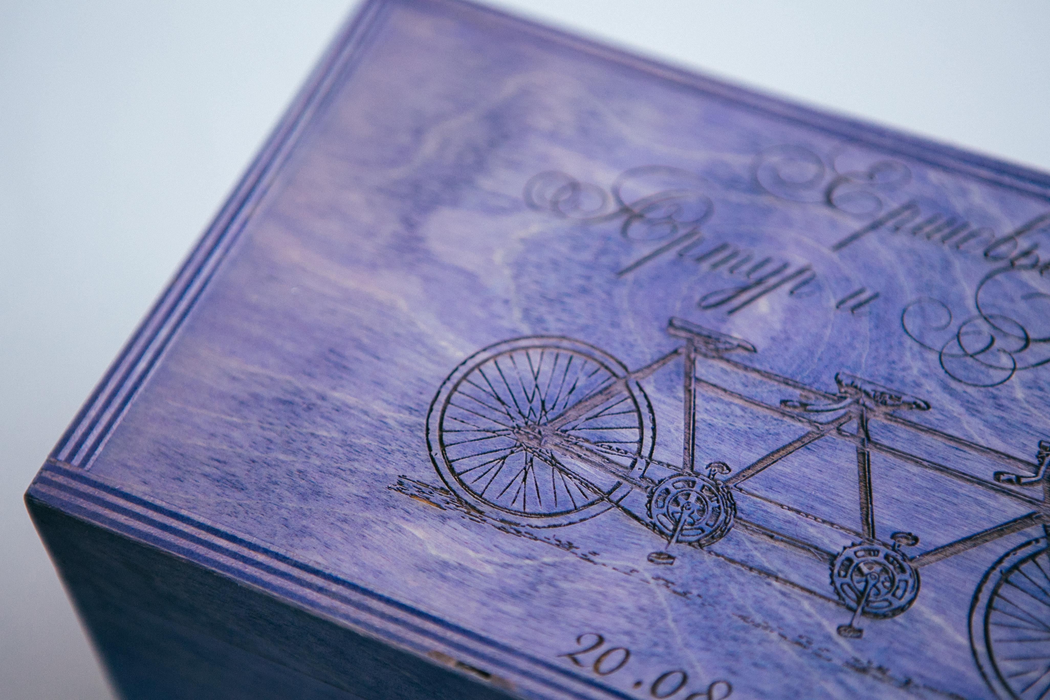 Сундучок для конвертов с гравировкой