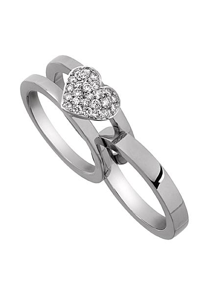 Exklusiv vigselring vitguld diamant