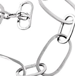 Armband med stora länkar