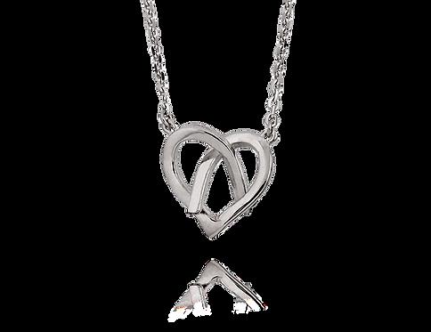 Halsband hjärta i knut