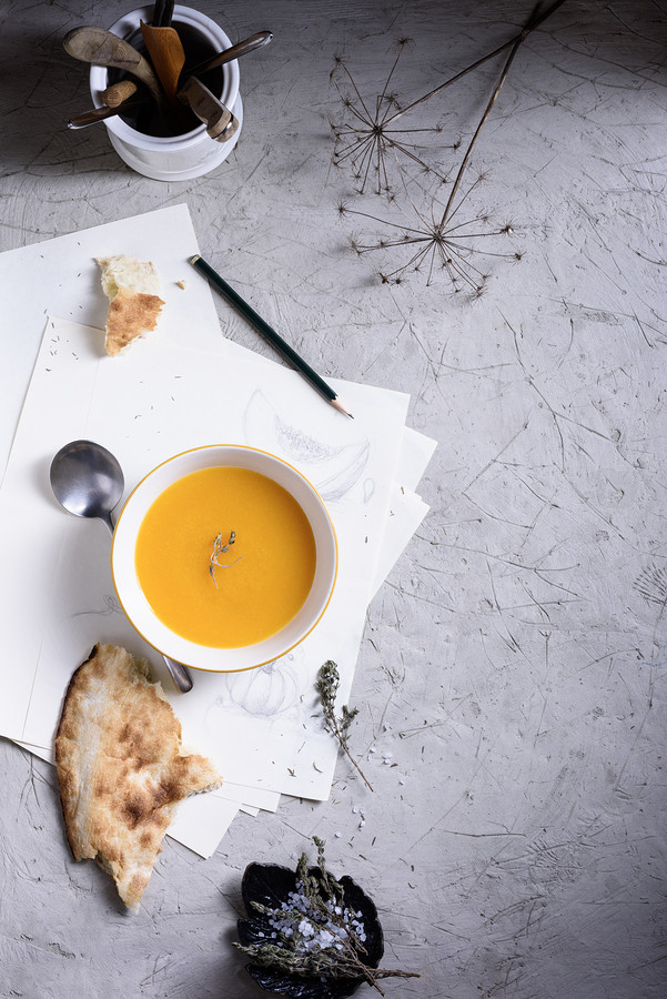 Spiced carrot and pumpkin soup