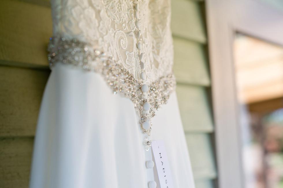 021 Wedding dress detail at Lemore Manor