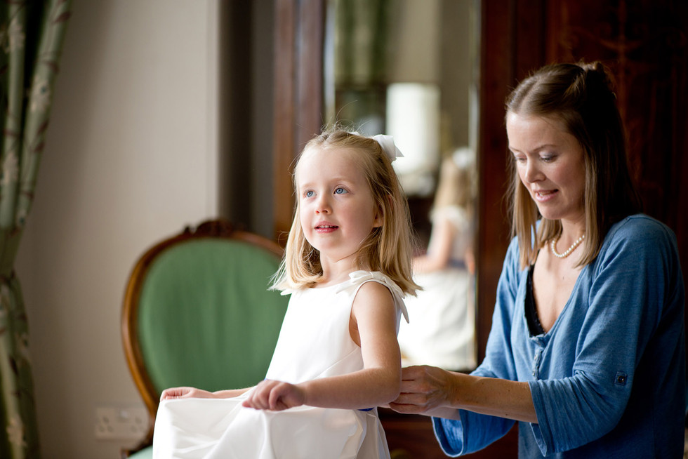 Flower Girl getting ready at Homme House