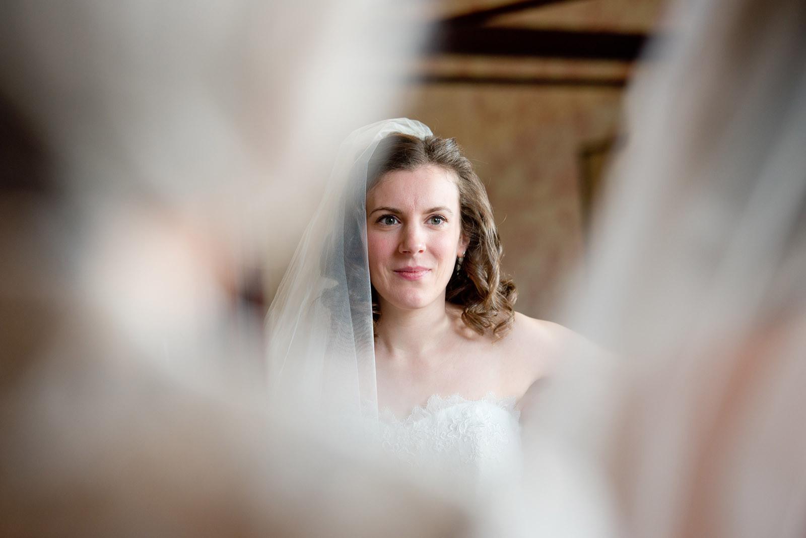 Bride getting ready at Burton Court