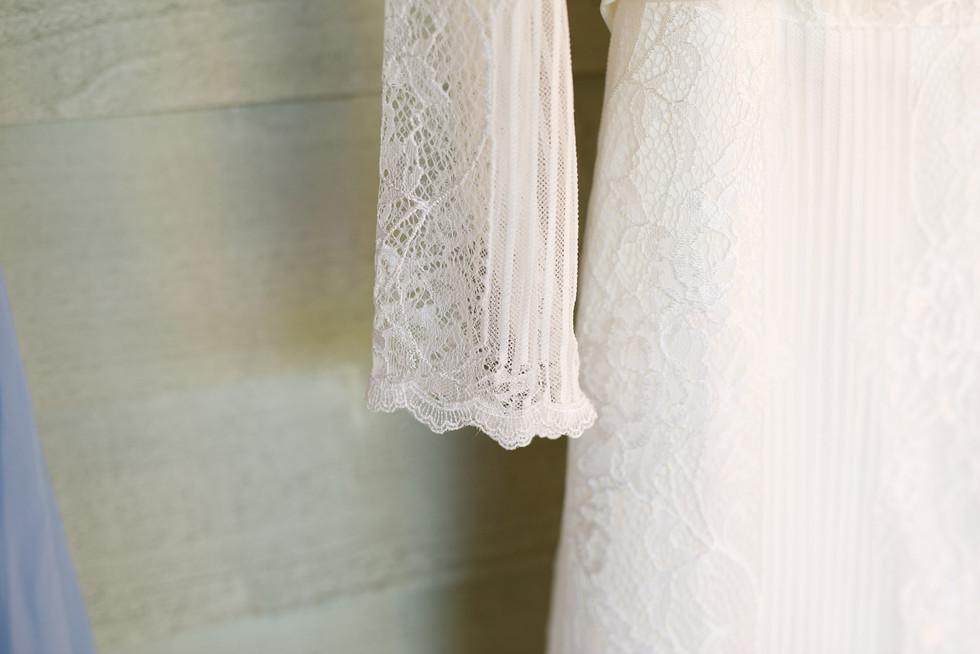 024 Wedding dress detail at Lemore Manor