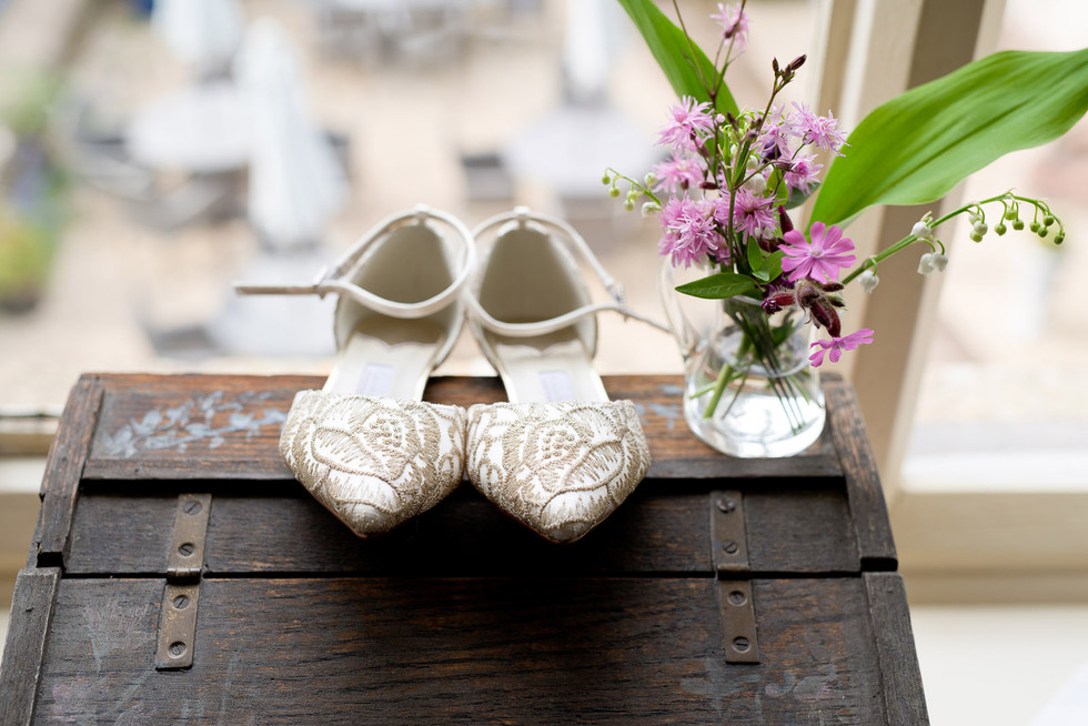 045 Bride's shoes at Glewstone Court.jpg
