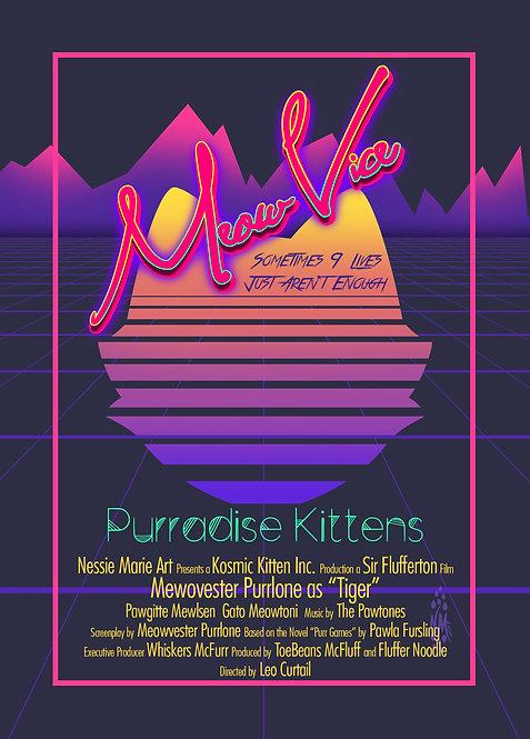 Meow Vice-Purradise Kittens Art Print