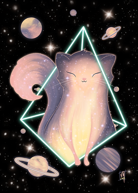The KittyVerse-Kosmic Kitty Art Print