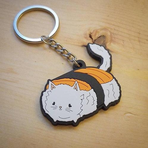 Sammy the Sushi Cat Soft PVC Key Chain
