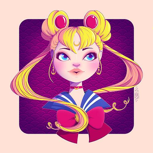 Sailor Moon Portrait Art Print