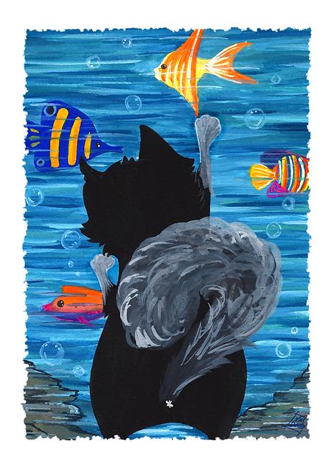 Kitty Goes to the Aquarium