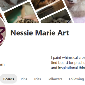 Pins the Win- Nessie has a Pinterest!