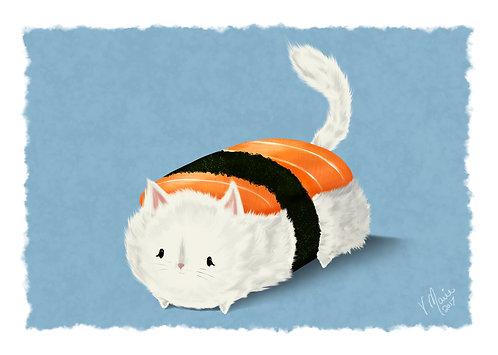 Sammy the Sushi Cat Art Print