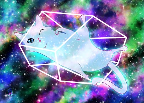 MeowBula-Kosmic Kitty Art Print
