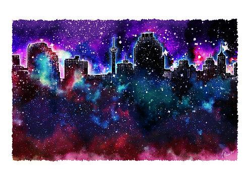 """SA """"Sky"""" Line Art Print"""