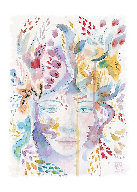 Among the Flourish Art Print
