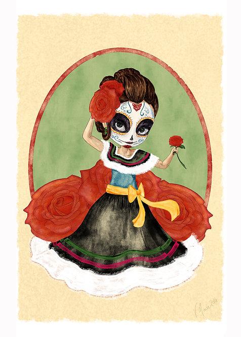 Esperanza-Dia de los Muertos Art Print