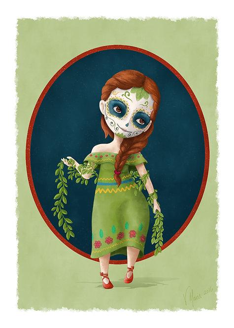 Yseñia-Dia de los Muertos Art Print