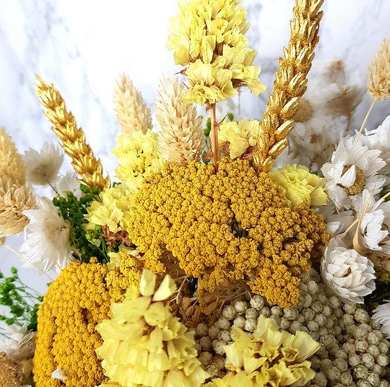 Bouquet achillée jaune
