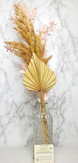 Bouquet palm/pampa + vase