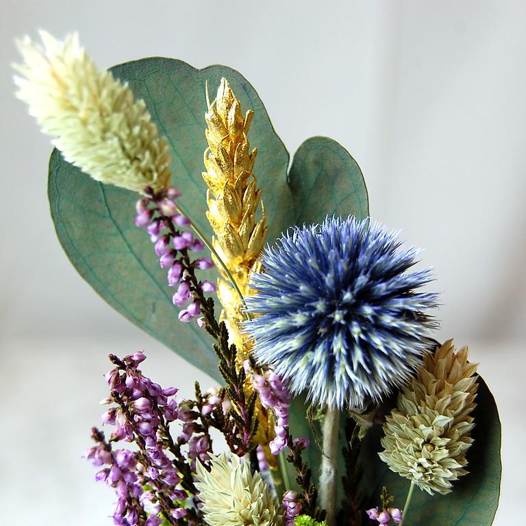 Atelier dorure sur fleurs séchées | Novembre 2020