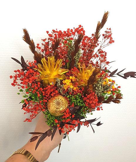 Bouquet rouge feu