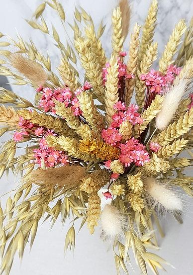 Bouquet à poser blé rose