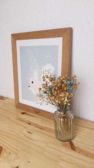 Mini + vase : naturel bleu