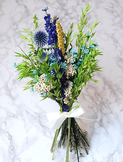 Bouquet bleu chardon