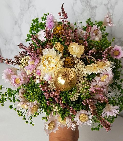 Bouquet rose pavot