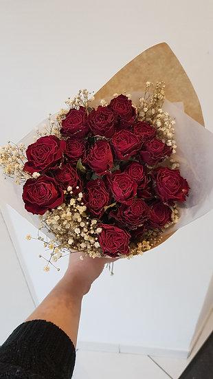 Bouquet roses séchées