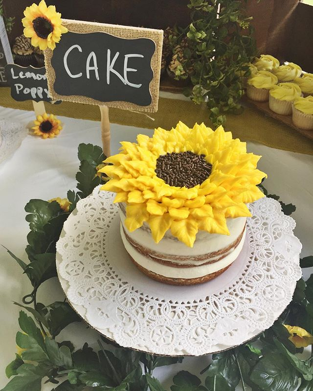 Absolutely love how crafty my bride was with all of her sunflower decor and flavor signs!! It's all