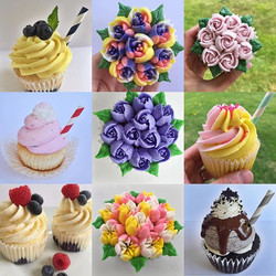 This weather!!!😍☀️🌸🌼🌿 Spring is right around the corner-- I can taste it ((in these cupcakes)) H
