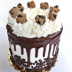 5_ triple layer Cookie Dough Cake!😋🍪 yummmm! #bakedbyjordan #cake #cakes #cupcake #cupcakes #choco