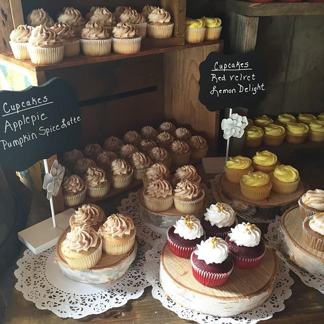 Part one! #cupcake #cake #nakedcake #freshfruit #vanilla #lemon #pumpkinspice #redvelvet #applepie #