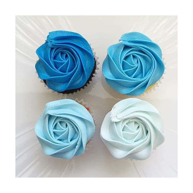 Ombreee💙 baby fever is on a high after doing these beautiful cupcakes! Good thing I have my best fr