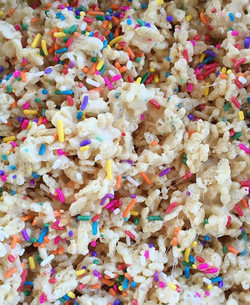 People giggle when I tell them I don't like cake-- my guilty pleasure is rice crispy treats!! Funfet