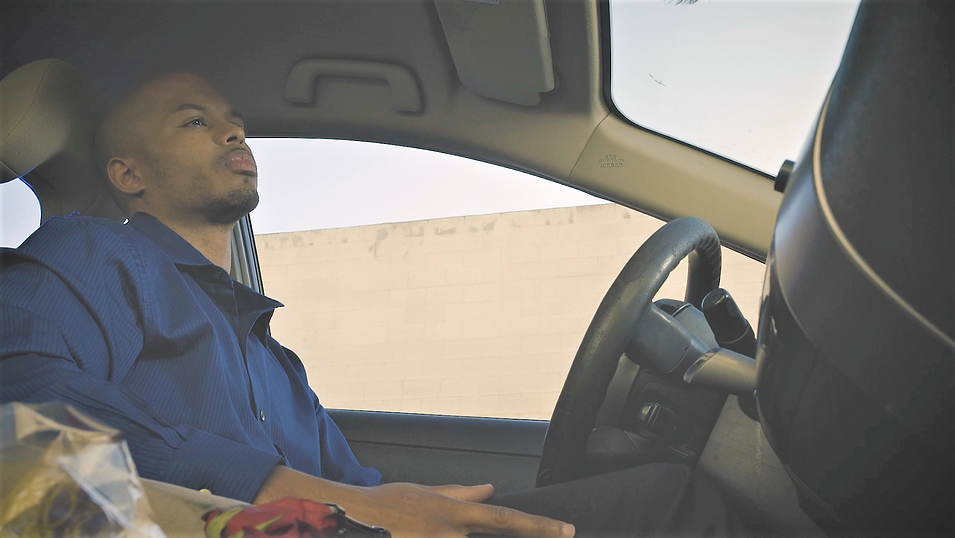 Caption: Tyree Jamar in JANUARY 14TH written and directed by La'Chris Jordan.