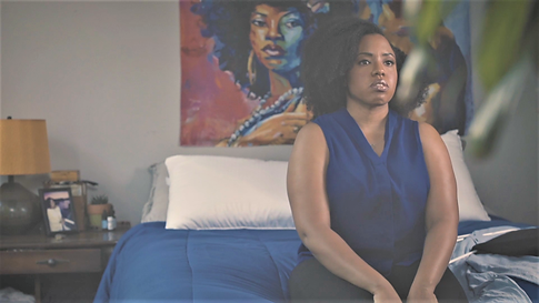 Caption: Jasmine Runnels in JANUARY 14TH written and directed by La'Chris Jordan.