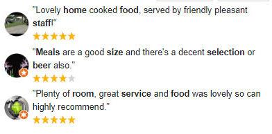 Castle Inn Google 5 star reviews.jpg