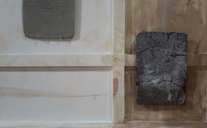 Two pieces from 'Raw Touch' in an installation
