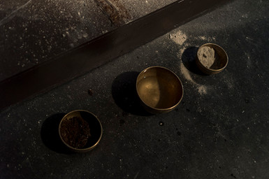 Stage, Tibetian Bowls, Ash, Water, Earth