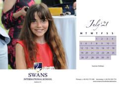 Swans School calendar June 2021