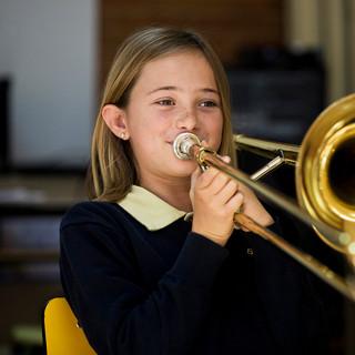 Swans Primary School. Music lesson.