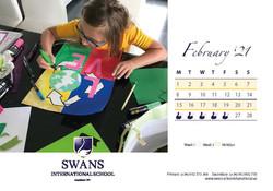 Swans School calendar February 2021