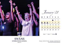 Swans School calendar January 2021