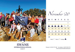 Swans School calendar November 2020
