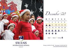 Swans School calendar December 2020
